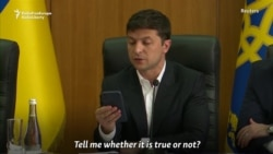 Ukrainian President Kicks Out 'Rogue' Official From Meeting Over Criminal Record