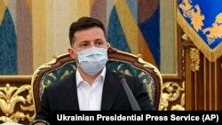 Киев, 15-уми апрели соли 2021. Президенти Украина Владимир Зеленский
