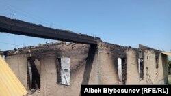 Село Максат Лейлекского района после конфликта на кыргызско-таджикской границе