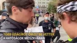 Újságírókat vettek őrizetbe Moszkvában