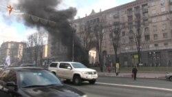 У столиці горіли шини і страйкували таксисти (відео)
