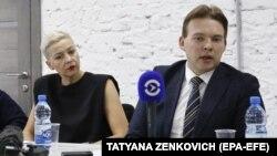 Марія Колеснікова і Максим Знак