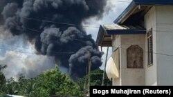 Ֆիլիպիններում աղեթի է ենթարկվել զինված ուժերի Lockheed C-130 բեռնատար օդանավը, Խոլո կղզի, 4 հուլիսի, 2021թ.