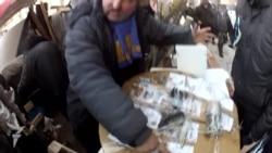 На Майдане выставілі гільзы ад патронаў «Беркута»