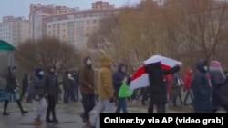 """""""Коңшулар жүрүшү"""". Минск шаары. 2020-жылдын 29-ноябры."""