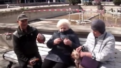 Ялтинцы участвуют в российской акции «Георгиевская ленточка» (видео)