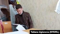 Константин Михалев в отделении полиции