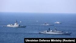 Во время многонациональных морских учений Sea Breeze 2020, организованных совместно Украиной и США в Черном море, 25 июля 2020 года
