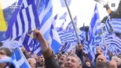 Amplu protest la Atena împotriva intenției guvernului de a face concesii Macedoniei