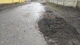 Следы гусениц в Киевском районе Донецка
