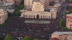Antigovernment Protesters Fill Yerevan's Republic Square