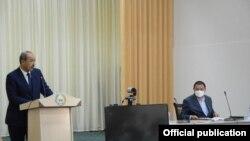 Бош вазир А. Арипов ва Фарғона вилояти ҳокими Ш. Ғаниев Сўх туманида, 12 август, 2020