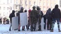 Тренировка защитников Майдана