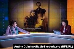 В студії Радіо Свобода під час запису програми «Суботнє інтерв'ю»
