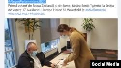 Moldova - Parlamentarele din România au început în Noua Zeelandă, Auckland, 4 decembrie 2020/ pagina de Facebook a Ambasadei României în Noua Zeelandă