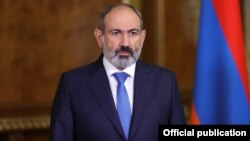 Armenian Prime Minister Nikol Pashinian addresses the 76th session of the UN General Assembly in New York on September 24.