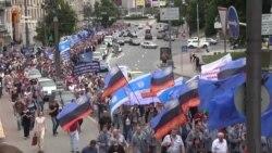Кілька тисяч працівників зі всієї України вимагали «європейських зарплат євротарифам» у Києві (відео)