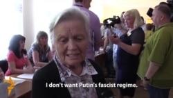 Crimean Tatars Make Road Trip To Vote In Ukrainian Presidential Poll