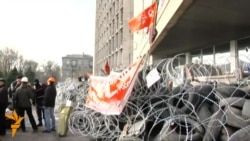 Pro-Russian Demonstrators Still On Donetsk Square