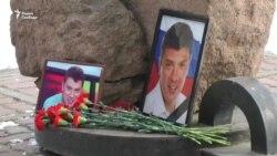 Акция памяти Бориса Немцова в Красноярске