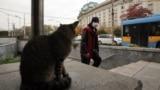 """Мъж с маска излиза от подлеза до СУ """"Св. Климент Охридски"""""""