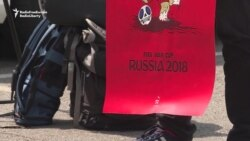 Ukrainians Protest As FIFA World Cup In Russia Kicks Off