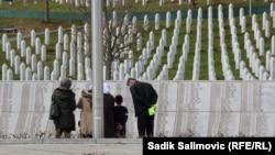 Memorijalni centar Potočari gde su ukopani ostaci više od šest hiljada do sada identifikovanih delova tela žrtava genocida u Srebrenici. Fotografija zabeležena marta 2021.