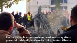 Albanian Rescuers In Race To Find Survivors After Deadly Quake