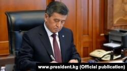 Президент Сооронбай Жээнбеков. Архивдик сүрөт.