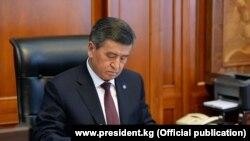 Сооронбай Жээнбеков, пятый президент Кыргызстана.