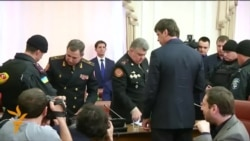 Ukrainian Police Detain Top Officials During Televised Meeting