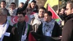 Палестинці в Харкові мітингували проти політики Ізраїлю (відео)