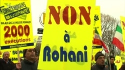 Iranian Exiles Protest Ahead Of Rohani's Visit To France