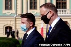 Владимир Зеленский и Анджей Дуда. Киев, 12 октября 2020 года