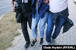 Natallya Lubneuskaya, jurnalista de la Nasha Niva împușcată în august 2020.