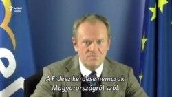 """Tusk: """"a Fidesz kérdése nem magyar ügy"""""""