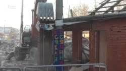 Акмәчеттә Үзәк базар тирәсендә сәүдә урыннары җимерелде