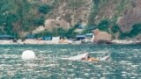 Буксировка затонувшего судна, мыс Фиолент, Севастополь. 30 июля 2021 года