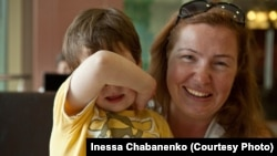 Инесса Чабаненко с пропавшим сыном Кириллом