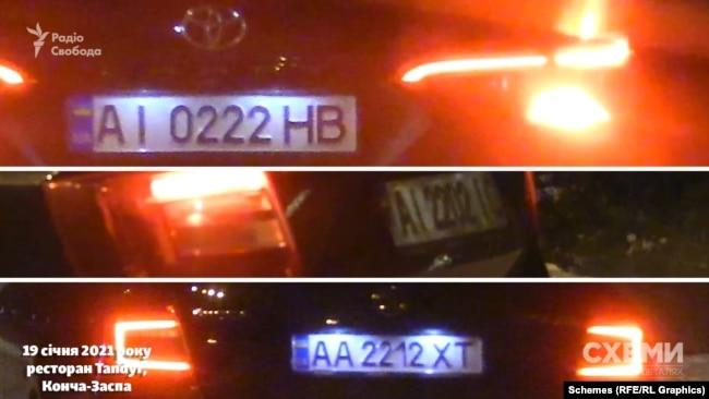 Як відзначили журналісти, більшість автівок об'єднує наявність двійок у номерних знаках
