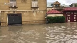 Bakı yenə su altında qaldı