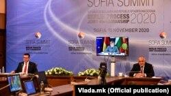 Zoran Zaev, Angela Merkel i Bojko Borisov na samitu u Sofiji