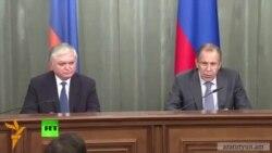 Հայաստանի և Ռուսաստանի արտգործնախարարները հանդիպել են Մոսկվայում