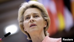 """The rule of law and our shared values are the foundation of our societies,"" European Commission President Ursula von der Leyen said on September 30. (file photo)"