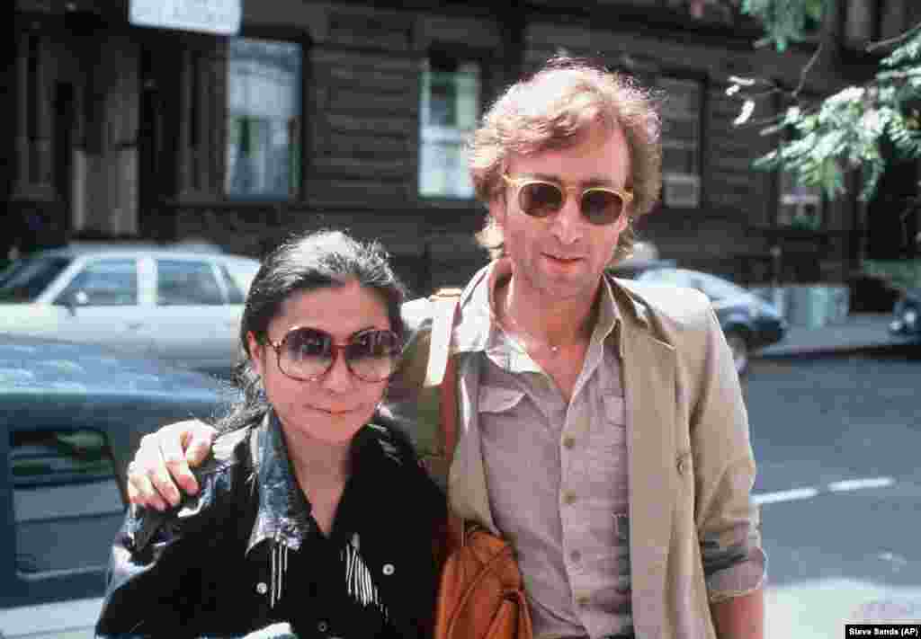 John Lennon and his wife, Yoko Ono, arrive at The Hit Factory, a recording studio in New York City on Aug. 22, 1980.John Lennon was killed on December 8, 2020 when he was returning home from a studio recording session with his wife, Yoko Ono,outside the Dakota apartment building.