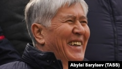 Kyrgyzstan's former President Almazbek Atambaev pictured in Bishkek on October 9