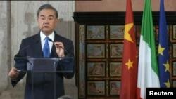 Kineski ministar spoljnih poslova Vang Ji turneju evropskim zemljama počeo posetom Italiji.