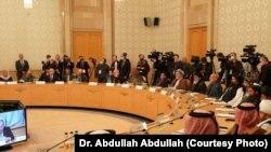 Pamje nga konferenca për paqen afgane, e mbajtur në Moskë më 18 mars.