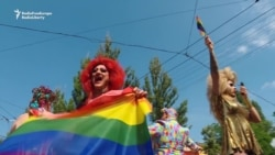 Gay-Pride Supporters March in Kyiv; One Minor Clash Reported