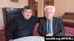 Yozuvchi Erkin Madrahimov (Oshiq Erkin) va kinotasvirchi G'ayrat Bobojonov